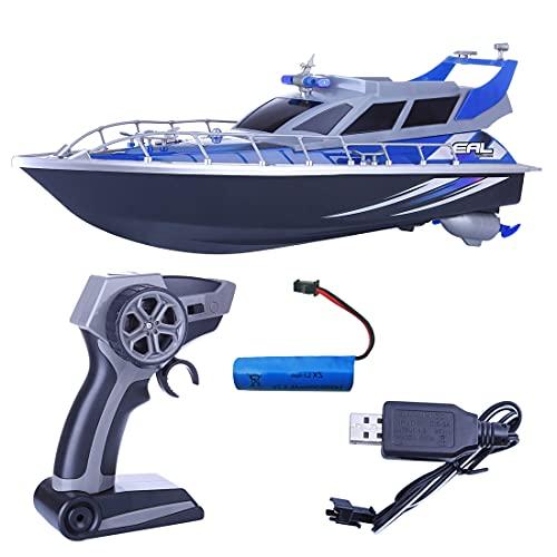 Macium Boote ferngesteuert, 1:20 4CH RC Polizeiboot Patrol Craft Modell Spielzeug für Kinder Erwachsene Jungen Mädchen