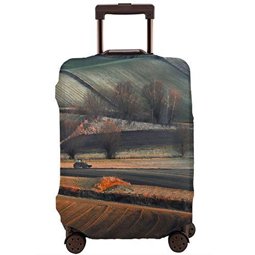 Cubierta de equipaje de viaje Campo Tractores de granja árboles paisaje al aire libre maleta protector lavable Maleta Cubiertas de equipaje