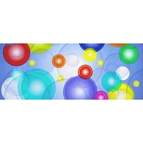 Bunte Kugeln, die auf dem blauen Pool-Geschenkpapier schwimmen 58x23inch 2 Rollen Geburtstags-Geschenkpapier für Frauen Geburtstags-Geschenk-Geschenkpapier für Muttertag Ostern Hochzeiten Geburtstage