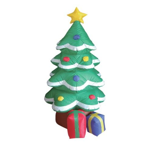BZB Goods 4 Foot Inflatable Christmas Tree Yard Decoration LED Lights Decor Outdoor Indoor Holiday Decorations, Blow up Lighted Yard Decor, Lawn Inflatables Home Family Outside