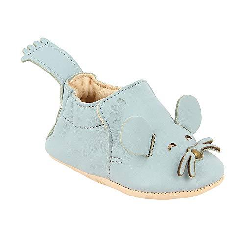 Easy Peasy Babyschuhe aus Leder, Blumoo Schaumstoff, Blau - Schaum - Größe: 0-6 mois