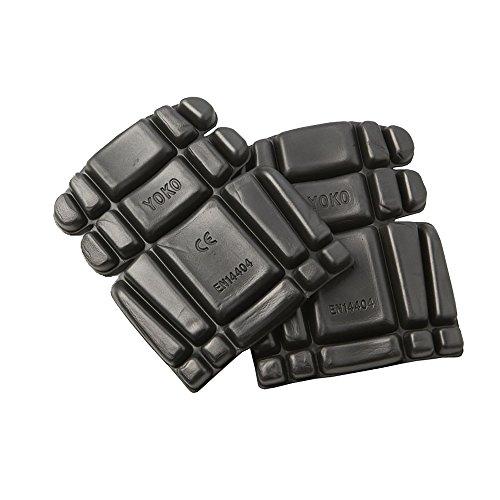 Yoko - Rodilleras para pantalones de trabajo/accesorios de seguridad (Talla Única/Negro)