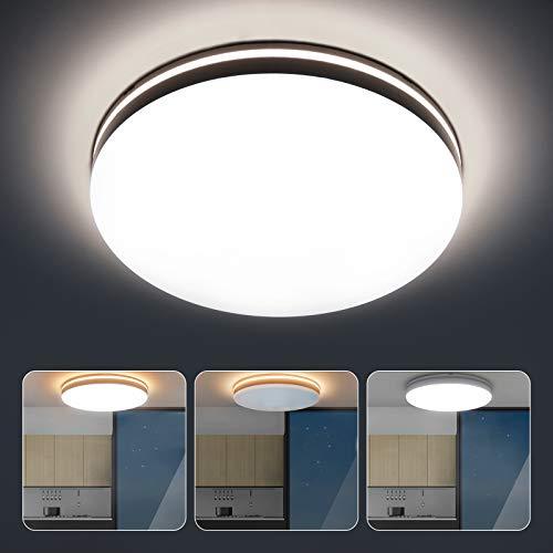 Deckenlampe LED Deckenleuchte 36W, Aialun 4000k & 2200k 5 Einstellbar Beleuchtungsmodi Deckenlampe LED Panel, Ø22cm Schlafzimmer LED Deckenlampe Rund1800lm, Wohnzimmerlampe Badezimmer Lampe
