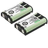 Kastar 2 Pack Cordless Phone Battery for Panasonic HHR-P104 HHR-P104A Type 29, Panasonic KX-FG6550 KX-FPG391 KX-TG2388B KX-TG2396 and More