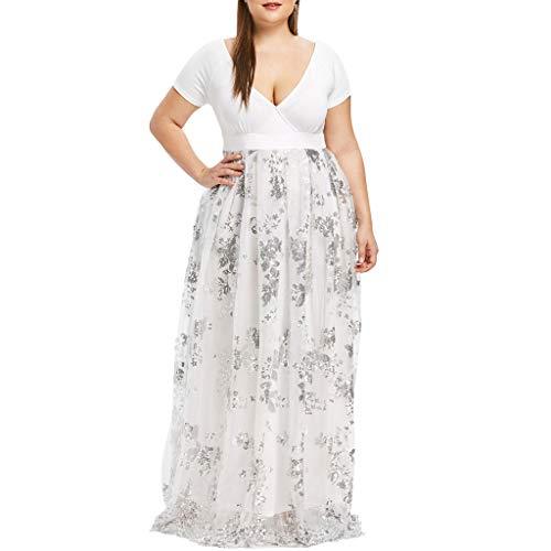 Vectry Vestidos Playa Mujer Largos Vestidos Largos Casual Boho Vestidos de Mujer Estampados Vestidos Largos Sexys Boda Noche Vestidos Playa Mujer Largos Vestido Blanco