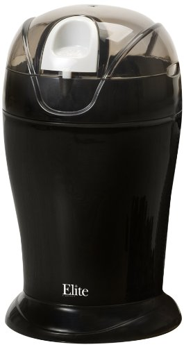 Elite Cuisine Maxi-Matic 150 Watt 4 Ounce Coffee Grinder, Black