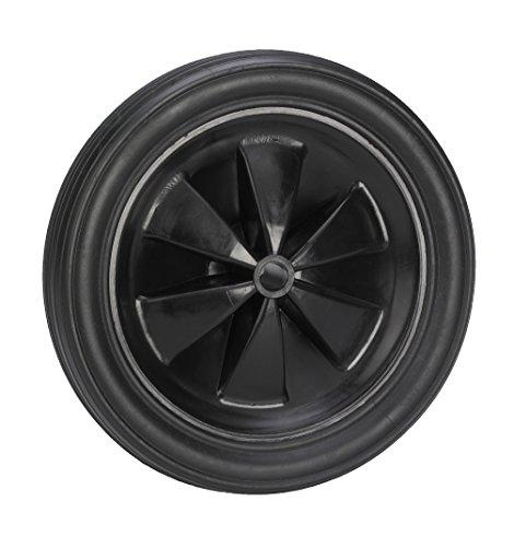 Dörner + Helmer 709188 PVC-Rad schwarz mit Rillenprofi 185 x 30 x 12 mm Nabenbreite 35 mm