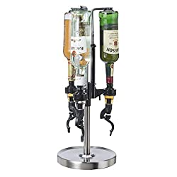 Oggi Professional 3-Bottle Revolving Liquor Dispenser - Best Shed Bar Ideas