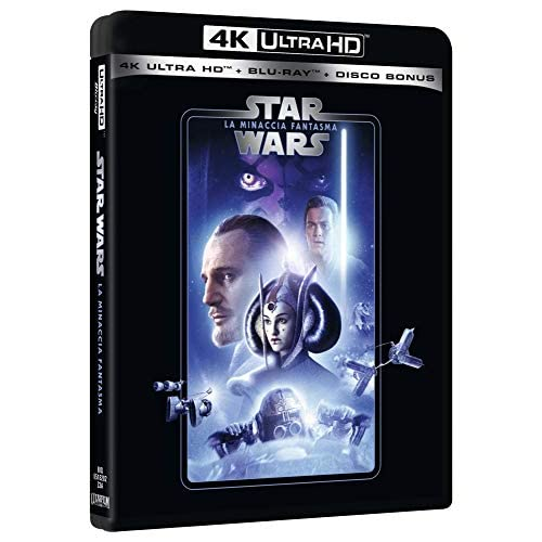 Star Wars 1 La Minaccia Fantasma Uhd 4K  (3 Blu Ray)