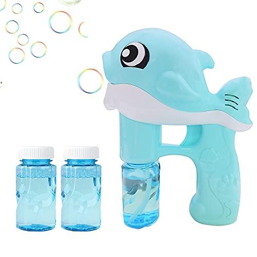 Jiahuade máquina de Burbujas niños,Pistola de Burbujas automatica,Pistola de Burbujas de Agua ,Pistola de Burbujas para niños,Pistola de Burbujas,soplador de Burbujas (C)
