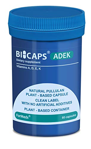 Formeds Bicaps ADEK Vitamin A, Vitamin D, Vitamin E, Vitamin K, 60 Capsules, 17.6 g