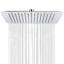 S R SUNRISE Regendusche Edelstahl für Badezimmer raindance Kopfbrause Duschkopf Quadratische 12 Zoll SRSH1203
