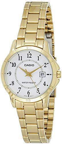 Reloj Señora Casio Dorado con numeros LTP-V004G-7B