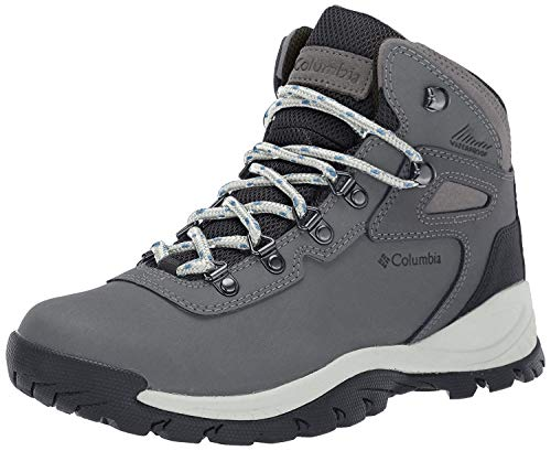 Columbia womens Newton Ridge Plus Waterproof Hiking Boot, Quarry/Cool Wave, 8.5 Wide US