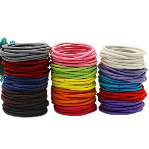 XinLuMing Lazos para el Cabello de bebé, Cola de Caballo, Colores de Caramelo, elástico, para niños, niñas, niños pequeños, 200 Piezas (Color : Multi-Colored)
