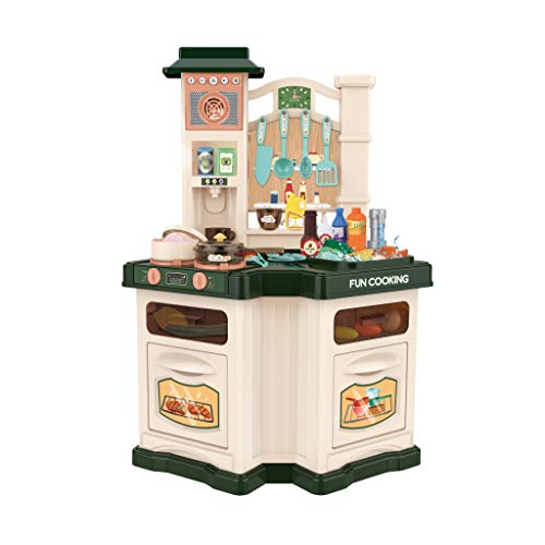 Children's Playset Kitchen Toys Best Chef Realistic Lights and Sounds Has Real Cooking Boiling Water Sound Cosplay