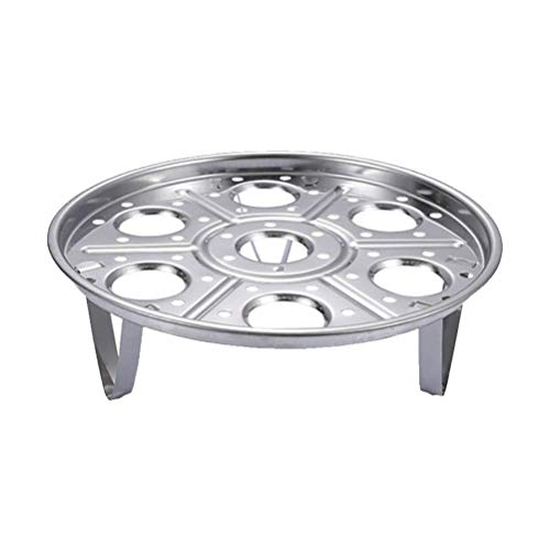 Gogias Round Stainless Steel Steamer Rack, Canning Rack Stand Steam Tray,Stainless Steel Steaming Rack for Instant Pot Pressure Cooker - Instant Pot Accessories Multi-Functional Steamer Basket