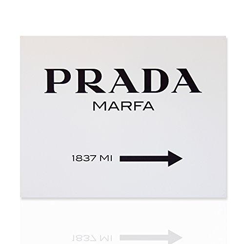 Pintado Prada Marfa Gossip Girl - Clásico color blanco y negro - Pintura del arte moderno, Listo para colgar - Colorscrazy