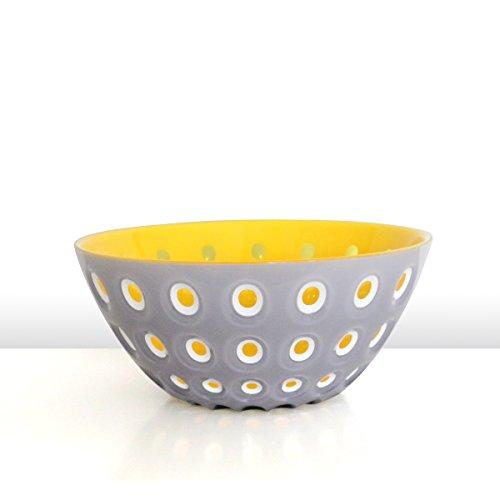 guzzini Schale LE MURRINE grau-weiss-gelb, D ca. 25 cm | FG-2794.25-141 | 8008392282396