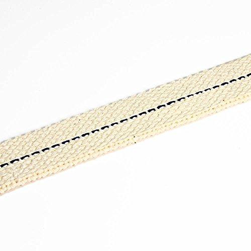 NKlaus 3 Meter 17mm 100% Natürliche Baumwolle Lampendocht flach Litzendocht Laternendocht für Ölbrenner Öllampe mit gereinigtem Petroleum 1298