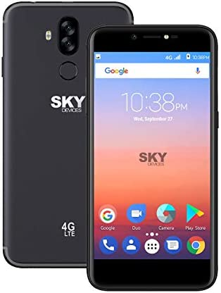 SKY Devices Elite A55 Unlocked Android Cell Phone – 5.5 Inch – 13MP Camera – 16 GB +2 GB Memory (Dark Grey)