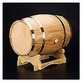 Decantador de whisky Decantador de vinos Personalizado Barril de whisky, sin barril de vino grabado, barril de 2 litros de roble personalizado, diseño de barril envejecido, decoración de mesa de barri
