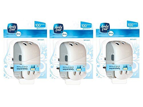 Ambi Pur 3Volution - Difusor ambientador de enchufe, 3 unidades