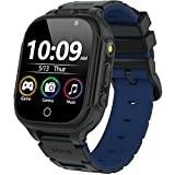 Kids Smart Game Watch for Boys Girls with 14 Puzzle Games HD Dual Camera 1.44' Touchscreen Music Video Player 12/24 Hr Alarm Clock Pedometer Flashlight Toddler Learning Toys Birthday Gifts (Black)