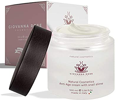 Anti-wrinkle face cream 100ml moisturizing care from snail slime extract and 8 functional ingredients Natural anti-aging cream for acne spots on the face, neck and décolleté by Giovanna Rose Cosmetics