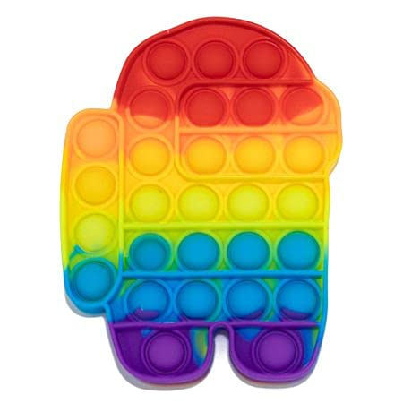 Alsino Push Pop giocattolo arcobaleno Fidget Popper bambini antistress ADHS (roboter)