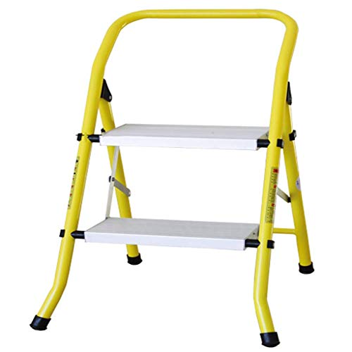 SHSM Anti-Slip Aluminum Folding Ladder Step Stool - Multi-Function Herringbone Ladder Thickening Home Ladder Three Step Ladder Children's Step Stools Multifunction Stepladder