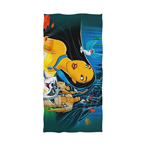 Toallas,Dibujos Animados Pocahontas Toalla De Secado Rápido De Gran Tamaño, Toallas De Mano De Secado Rápido para El Hogar, Interior Y Exterior,80x130cm
