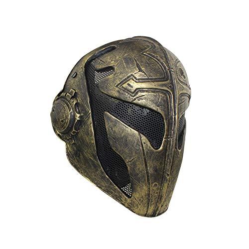 WLXW Cosplay Herren Taktische Maske, Templer Cross King FRP Vollmaske, Geeignet Für Airsoft Paintball Schutz, Film Prop Maskerade,005