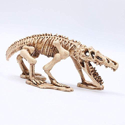 Horror Dekoration Aquarium Harz Dinosaurier Schädel Modell Aquarium Landschaftsbau Dekoration Simulation Tier Home Office Craft Teaching Requisiten