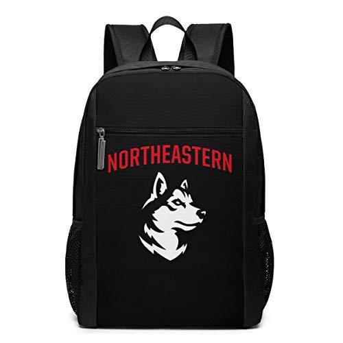 ZYWL Northeastern University Premium 17-Zoll-Reise-Laptop-Rucksack, Büchertasche, Business-Tasche