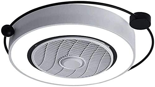 Ventilador de techo con iluminación Dimmable Ajustable Velocidad del viento para dormitorio Sala de estar Comedor LED Luz de techo con control remoto 62cm 36W