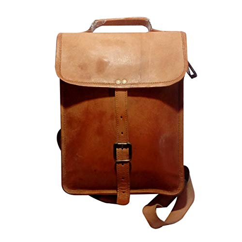 India Meets India Handicraft Genuine Leather Backpack, Travel Bag, Laptop Bag, College School Bag, Best Gifting Made By Awarded Indian Artisan