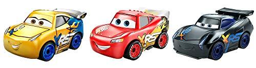 Disney Cars Mini, Assortimento con 3 Macchinine, i...