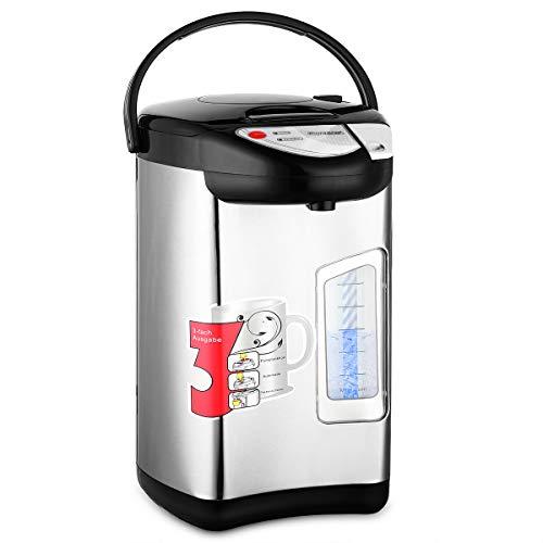 monzana Heißwasserspender 3 Liter - 750W | Edelstahl Gehäuse | 360° Drehbar | Warmhaltefunktion | Wasserkocher Wasseraufbereiter Thermopot