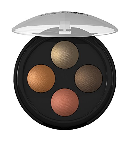 lavera Lidschatten Illuminating Eyeshadow Quattro ∙ Farbe Indian Dream ∙ farbbrilliant & langanhaltend ∙ Natural & innovative Make up ✔ vegan ✔ Bio Pflanzenwirkstoffe ✔ Naturkosmetik ✔ Augen Kosmetik 1er Pack (1 x 2 g)