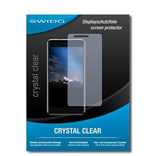 SWIDO Bildschirmschutz für Phicomm Energy 4s [4 Stück] Kristall-Klar, Hoher Festigkeitgrad, Schutz vor Öl, Staub & Kratzer/Schutzfolie, Bildschirmschutzfolie, Panzerglas Folie
