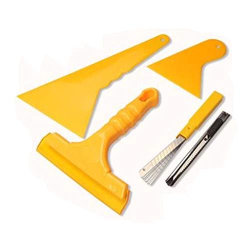 Rascador de cristal con cuchillas de repuesto, rasqueta para ventanas de coche,...
