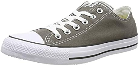 Converse Womens All Star Ii Ox Low Top Lace Up Fashion, Charcoal, Size 6.5