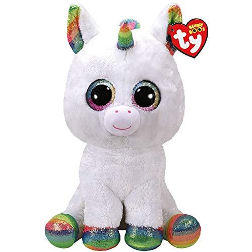 TY - Beanie Boo's Pixy, peluche unicornio, color blanco, 40 cm (United Labels Ibérica 36859TY) , color/modelo surtido