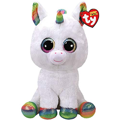 TY - Beanie Boo's Pixy, peluche unicornio, color blanco, 40 cm (United Labels Ibérica 36859TY) , color/modelo surtido