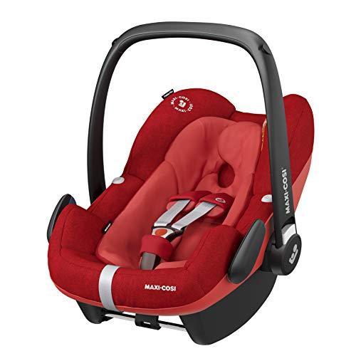 Maxi-Cosi Pebble + Sillita de bebé, grupo seguro 0+ i-Size (0 – 13 kg), se puede utilizar desde el nacimiento hasta aprox. 12 meses, apto para FamilyFix One. rojo nomad red