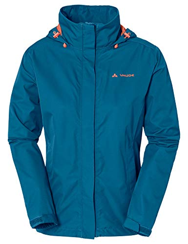 VAUDE Damen Jacke Escape Light, Regene, kingfisher, 38, 038953320380