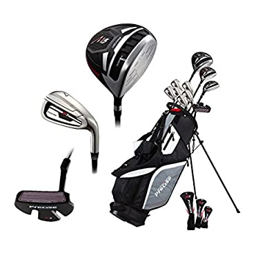 14 Piece Men's All Graphite Complete Golf Clubs Package Set Titanium Driver, Fairway, Hybrid, S.S. 5-PW Irons, Putter, Stand Bag - Choose Right or Left Hand! (All Graphite - Tall Size, Right Hand)
