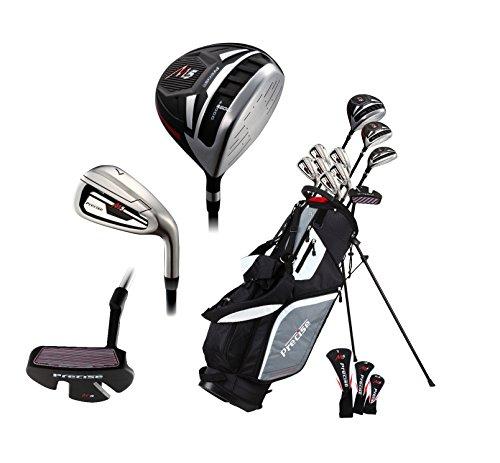 14 Piece Men s All Graphite Senior Complete Golf Clubs Package Set Titanium Driver, Fairway, Hybrid, S.S. 5-PW Irons, Putter, Stand Bag - A Flex SHAFTS