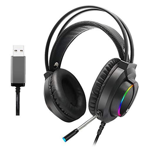 Moent Gaming-Headset 3,5 mm Over-Ear-Stereo-Gaming-Kopfhörermikrofon Kompatibel mit N-Switch, Kopfhörer